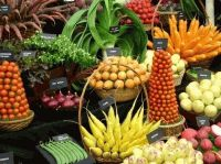 фрукты,овощи,загар,диета,фреш,морковь,зелень,рыба,птица,тыква