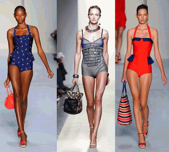 купальники,мода,весна-лето 2012,лето 2012,тренды