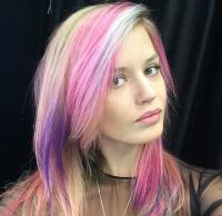 радужное окрашивание что это такое, радужное окрашивание фото, розовые волосы фото, фиолетовые волосы фото