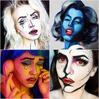 хеллоуин, макияж хеллоуин, pop-art, поп-арт