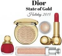 рождественская коллекция макияжа Dior 2015 фото, коллекция макияжа Dior зима 2015, Dior State of Gold фото, рождественские коллекции макияжа