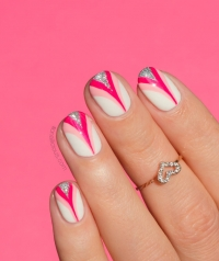 модный маникюр фото 2015, розовый маникюр фото, розовая лента символ