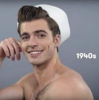 мужские прически, 100 лет мужских причесок, мужские прически 20 век