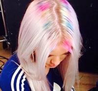 разноцветные волосы, радужные волосы, разноцветное окрашивание, радужное окрашивание