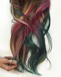 цветные волосы, разноцветные волосы, яркие волосы, цветное окрашивание, омбре