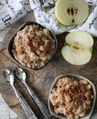 завтрак, вкусный завтрак, вкусная овсянка, вкусная овсянка рецепт, овсянка с яблоком, овсянка с яблоком рецепт