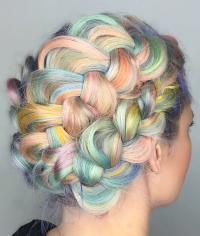 цветные волосы, разноцветные волосы, яркие волосы, цветное окрашивание, омбре, пастельное окрашивание, пастельные волосы