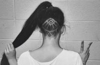 Hair tattoo фото, Hair tattoo что это такое, Hair tattoo как сделать, татуировки на волосах фото, татуировка на затылке фото