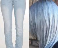 denim hair что это такое, джинсовые волосы фото, модные окрашивания 2016 фото, модные цвета волос фото