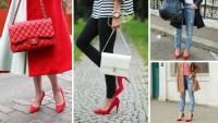 красные туфли с чем носить, красные туфли 2016, красные туфли с чем сочетать фото, как носить красные туфли, туфли и джинсы как сочетать фото