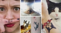 татуировки с котами фото, татуировки с кошками фото, лучшие тату с котами фото, тату с котами фото
