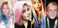 радужное окрашивание волос фото, звезды с розовыми волосами, розовые волосы фото, яркое окрашивание, пастельные оттенки волос фото