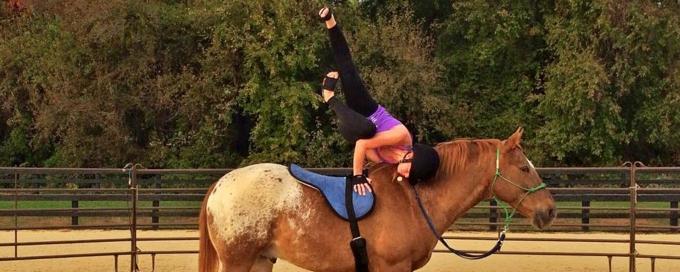 Анжела Нуньес, Анжела Нуньес йога, Анжела Нуньес лошади, Анжела Нуньес фото, йога, асаны, йога с животными, забавная йога, йога на лошади
