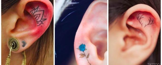 тату, тату фото, тату 2016, тату тренды, татуировки, татуировки фото, татуировки 2016, татуировки трнды, тату на ушах, тату в ушах, татуировки на ушах, татуировки в ушах, татуировки уши, тату уши