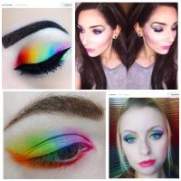 Beauty-тренд лето 2016, Beauty-тренды, Beauty-тренды лето 2016, Beauty-тренд, радужные тени, радуга, макияж радуга, радуга макияж