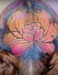 Граффити на волосах, Граффити на волосах фото, Граффити на волосах видео, краска для волос в спрее, краска для волос в баллончике