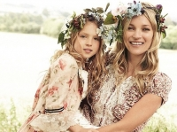 кейт мосс vogue фото, кейт мосс дочь, кейт мосс и дочь лили грейс фото, кейт мосс с дочерью фото