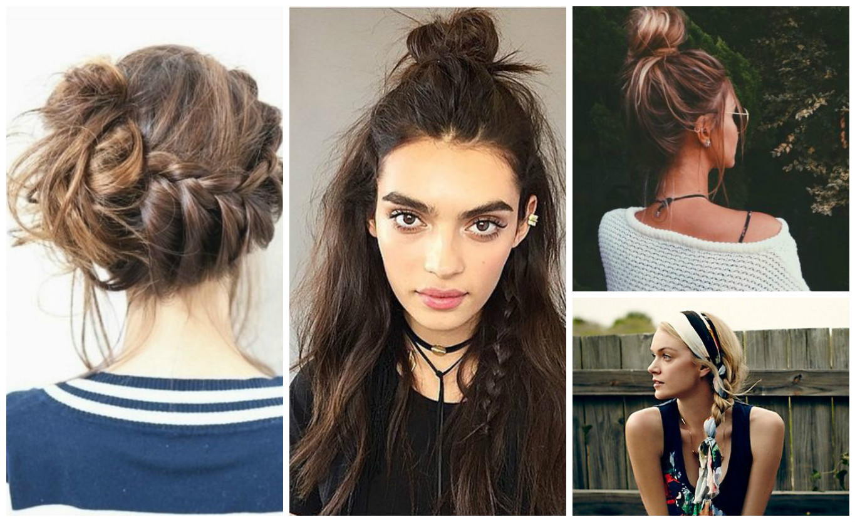 Прически на волосы летние