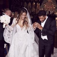 сиара свадьба фото, сиара вышла замуж фото, сиара свадебное платье фото, сиара и рассел уилсон фото