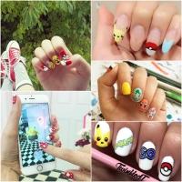 Pokémon Go, покемон го, покемон гоу, покемоны игра, маникюр с покемонами, маникюр с покемонами фото, нейл-арт с покемонами, маникюр покемоны
