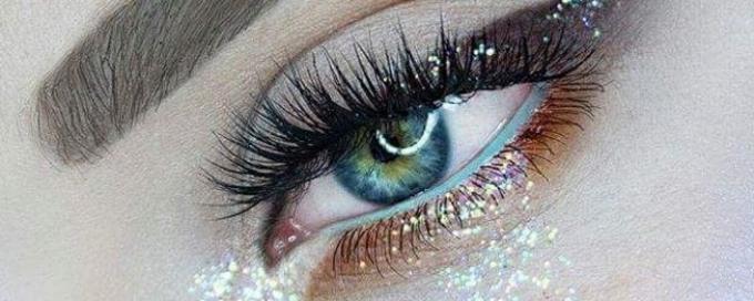 макияж глаз, макияж глаз блестки, макияж глаз глиттер, макияж глаз фото