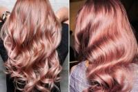 цвет волос, модный цвет волос, цвет волос осень 2016, Розово-золотой цвет волос