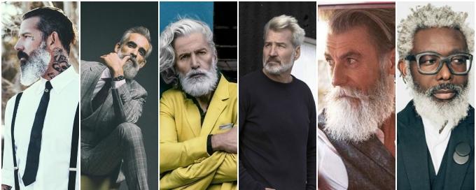 красивые мужчины, седые мужчины, седые красивые мужчины, седые модели, старые модели,