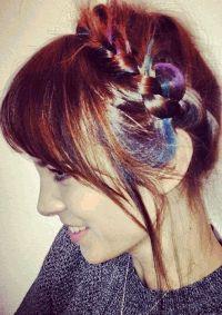 алекса чанг,разноцветные пряди,Hair Chalk L%27Oreal Professionnel