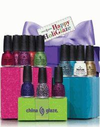China Glaze,happy holiglaze,маникюр,песочный лак,глиттер