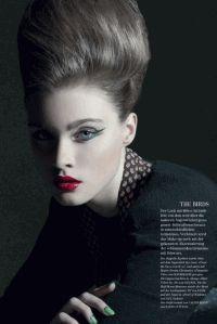 объемные прически,зеленый макияж,фотоприцел,Diva Magazine,макияж