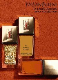 YSL,La Laque Couture Spicy Collection,лак для ногтей,золотой маникюр