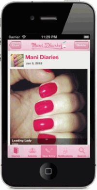 Mani Diaries,мобильное приложение,маникюр,нейл-арт