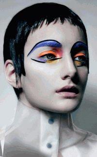 арт мейкап,макияж,фотоприцел,маркус ламберт,необычный макияж