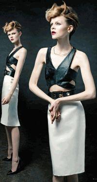 Black Magazine,Руби Жан Уилсон,фотоприцел,готический шик,срелки,макияж