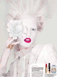 Marie Claire China,Али Стивенс,модель,стиль рококо,макияж