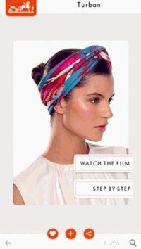 Hermes,silk knots Hermes,мобильное приложение,как завязывать платок,платок,шаль