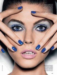 Allure Russia,синий цвет,Синий макияж,марина линчук,фотоприцел,макияж