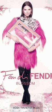Fan di Fendi Blossom,Fendi,Каролин Браш Нильсен,рекламная кампания