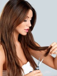 стрижка горячими ножницами,запечатывание кончиков волос,салонные процедуры для волос,процедуры для волос,против секущихся кончиков,салонный уход за волосами