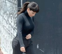Ким Кардашьян,Ким Кардашьян волосы,волосы,французская челка,прическа