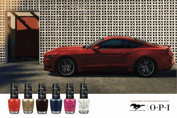 Ford Mustang,OPI,лак для ногтей,оттенки лака,новая коллекция,новая коллекция Ford Mustang