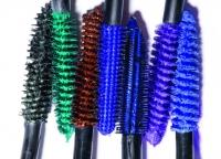 Цветные туши,тушь для ресниц,яркий макияж,летний макияж,макияж