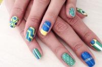 маникюр,наклейки ногти,модный маникюр,стикеры,NCLA,чемпионат мира по футболу