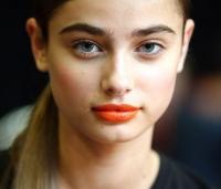 оранжевая помада,как носить,макияж,тренды,2014,лето