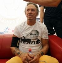 Микки Рурк,фото,футболки,Путин,Россия,2014,война