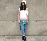 Маша Ефросинина,фото,2014,беременна,стиль,наряд,фигура