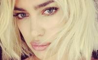 ирина шейк,фото,прическа,цвет волос,блондинка,образ,Instagram