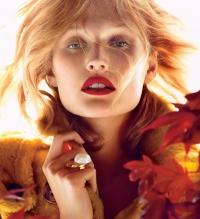 тренды,макияж,2014,осень,темная помада,винный,оттенки,Тони Гаррн,фотосессия,Allure