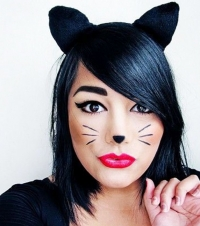 кошка,образ,макияж,хэллоуин,2014,фото