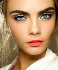 макияж,голубые глаза,голубые тени,глаза,макияж для голубых глаз,мейк-ап глаз,тени,яркая помада